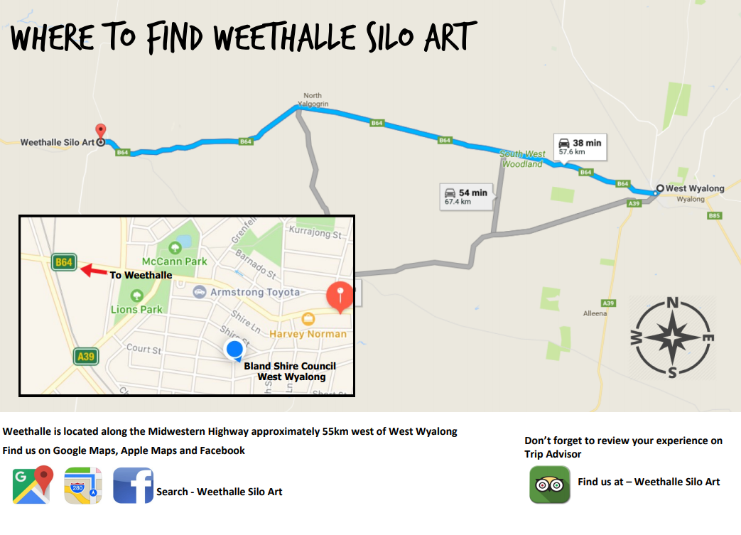 Weethalle Silo Art Map