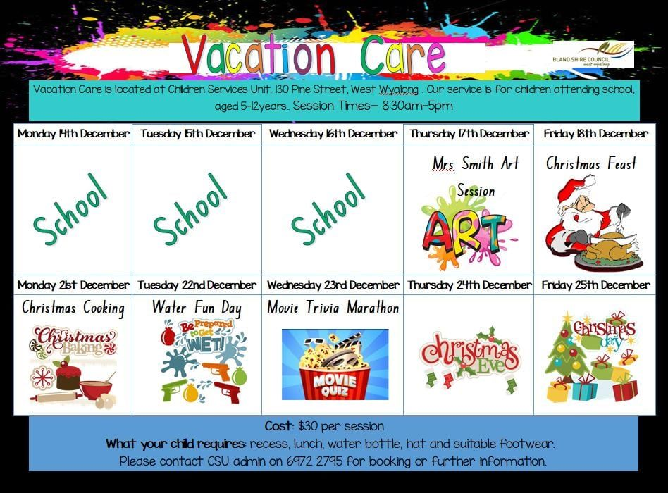 Vacation Care Dec 21